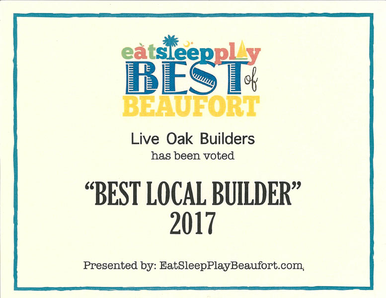 Best of Beaufort Builder Award