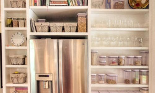 Kitchen Cabinet Space Refrigerator